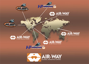 Air-Way Locations Map