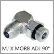 Brennan 10 Units Steel 1-1//4 in Male O-Ring Boss x 1-1//2 in Male JIC 37/° Flare Straight Adapter